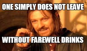 One Simply Does Not Meme - meme maker one simply does not leave without farewell drinks