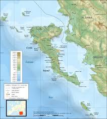 Kefalonia Greece Map by Corfu Map