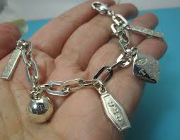 bracelet charm tiffany images Tiffany co authentic retired 1837 5 charm bracelet 925 sterling jpg