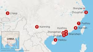 map of china and cities only 8 big cities in china meet air quality requirements