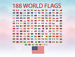 Usa Flag Vector World Flags Svg Cutting File Flags 188 Countries Svg Vector