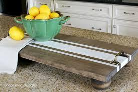 diy tray diy ticking stripe wooden server tray americana decor chalky finish