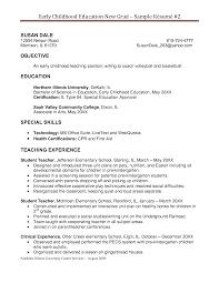 Sample Resume In Canada by Early Childhood Education Resume 19 Preschool Teacher Resume