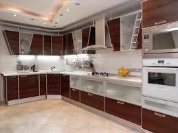 semi modern kitchen modern walnut kitchen cabinets with brown and white combined color