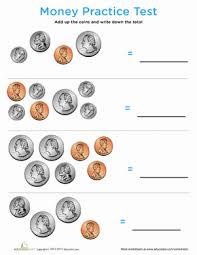 money learning worksheets practice test money worksheet education