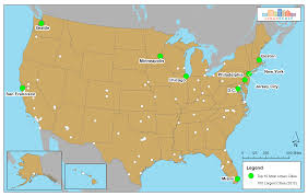 united states major cities map us map with top cities world maps
