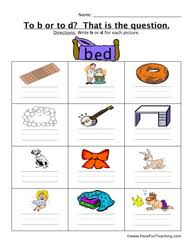 B And D Worksheets To B Or To D Worksheet 2