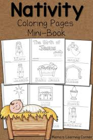 nativity coloring pages coloring books minis and books