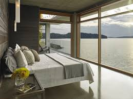 Houses With Big Windows Decor Cliffside Home Offers Waterfront Views Of Bellingham Bay
