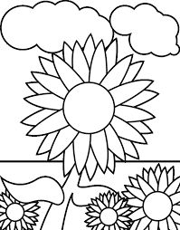 Sunflower Coloring Page Flower Coloring Pages Free Sunflower 16610 Sunflower Coloring Page