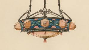 Art Nouveau Lighting Chandelier Art Nouveau Watercolor Designs For Lamps And Lighting Fixtures