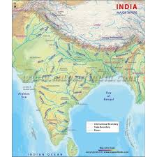world map oceans seas bays lakes india country study