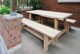 White Wood Outdoor Furniture by White Cedar Wood Outdoor Dining Table