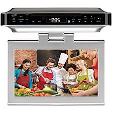 Sony Kitchen Radio Under Cabinet by Amazon Com Sony Icf Cd555tv 7 Inch Under Counter Lcd Tv Cd Clock