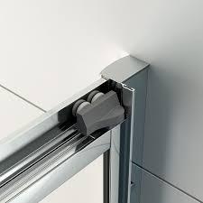 veebath fenwick modern bathroom 760mm chrome bifold doors shower