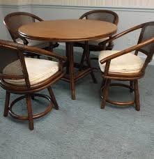 Rattan Dining Table And Chairs Mid 20th Century Ficks Reed Rattan Dining Table And Chairs Ebth