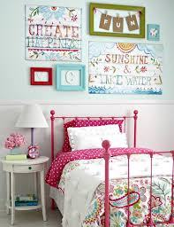 creative wall art for cute room ideas for girls with pink metal