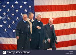 photo mosaic of american flag and former u s president bill