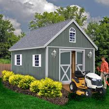 belmont 12 ft x 16 ft wood storage shed kit with floor including