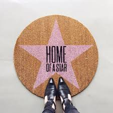 Bloomingville Doormat Home Of A Star Round Doormat By Bloomingville Clickon Furniture