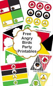 angry birds party movie night free printables