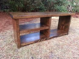 Rustic Wooden Bench Coastal Oak Designs Shoe Bench