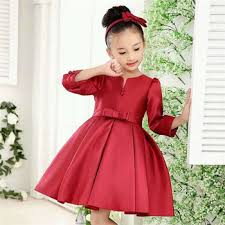 desain baju gaun anak pakaian anak anak natal gaun pesta gadis desain fashion merah gadis