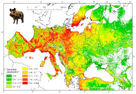 Population Density World Map by Os Wild Boar Population Density In Europe 2015 1202 833 Mapporn