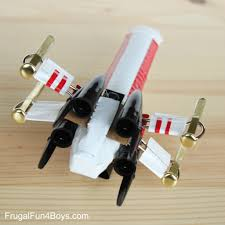 how to make a star wars x wing starfighter out of office supplies