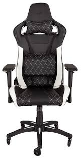 corsair t1 race gaming chair u2014 black white