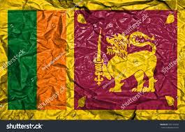 Vintage Flag Art Sri Lanka Vintage Flag On Old Stock Illustration 292123226