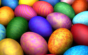 beautiful painted eggs happy easter holiday