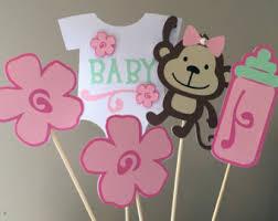 Baby Monkey Centerpieces by Jungle Monkey Baby Shower Centerpiece Half A Dozen6 Pieces