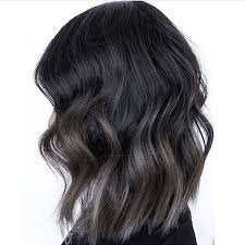 how to color hair to blend in gray steel gray blend color and cut by annalise at studiolioness