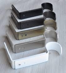 Curtain Rod Extension Brackets Urbanest Heavy Duty Adjustable Metal Curtain Rod Bracket For 1 1 4