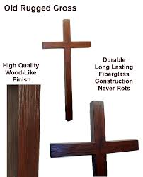 church crosses rugged cross wood look outdoor fiberglass wall cross