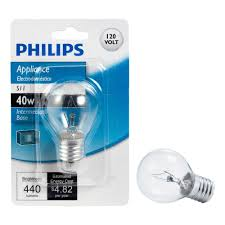home depot microwave light bulb philips 40 watt s11 incandescent light bulb 415414 the home depot