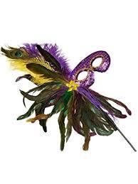 mardi gras masquerade black feather stick mardi gras masquerade sequin mask