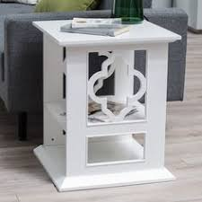 Quatrefoil Console Table Panorama End Table White This Table Has Storage In Drawer And