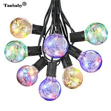 copper globe string lights tanbaby g40 globe string light with 25 led copper wire clear bulbs
