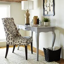 owen pewter wingback dining chair with espresso wood pier 1 imports