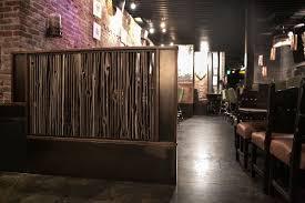 Cedar Wood Walls by Divider Wall At El Camino Tavern Custom By Rushton Llc
