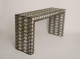 Parsons Console Table Snakeskin Printed Hair Hide Parsons Console Table Moxie
