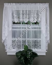 White Kitchen Curtains by Valerie Kitchen Curtains Swags Valances U0026 Tiers United