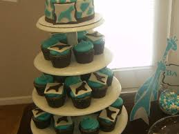 wild safari blue baby shower cupcakes cakecentral com