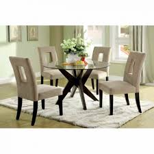 dinning glass top dining table sets black glass dining table round