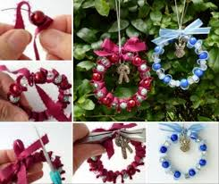 easy ribbon and bead decorations decoration and