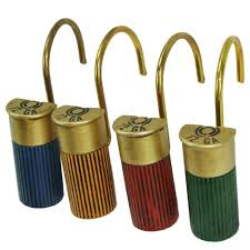 Rustic Bathroom Decor by Amazon Com 12 Gauge Shotgun Shell Shower Curtain Hooks Rustic
