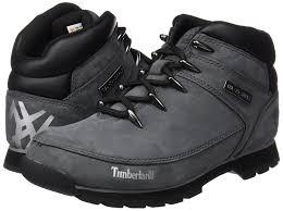 amazon com timberland men u0027s euro sprint hiker grey leather boot
