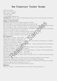 Aerobics Instructor Resume Examples Sample Resume For Elementary Teachers Cover Letter For Designer